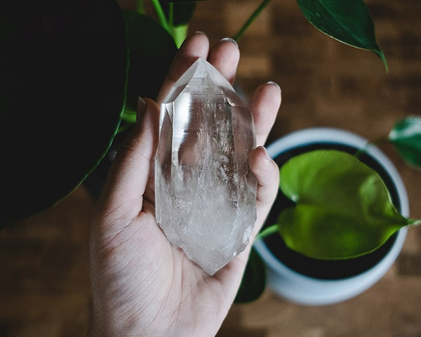 Clear Quartz Crystals - Double Terminated Wand - Image Source: Dani Costelo / Unsplash