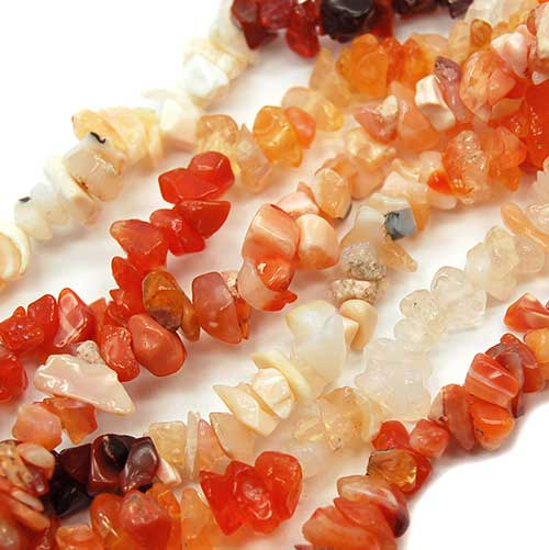 Crystals and Minerals - Single Strand Mexican Fire Opal Bracelet from Healing Crystals