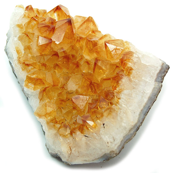 Natural Crystals - Heat-treated Citrine Druze from Healing Crystals
