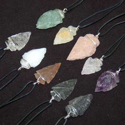 New arrival 10 chakra arrowhead pendant assortment current new arrival 10 chakra arrowhead pendant assortment aloadofball Image collections