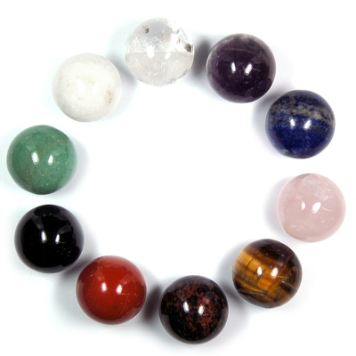 10pc. Chakra Sphere Assortment (China)