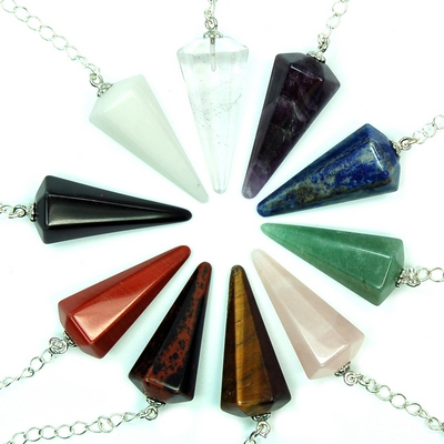 Chakra 6-Facet Pendulum Assortment #2 (India)