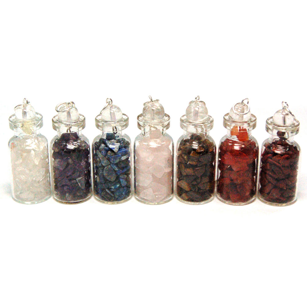 10pc. Chakra Crystals in a Bottle Assortment (India)