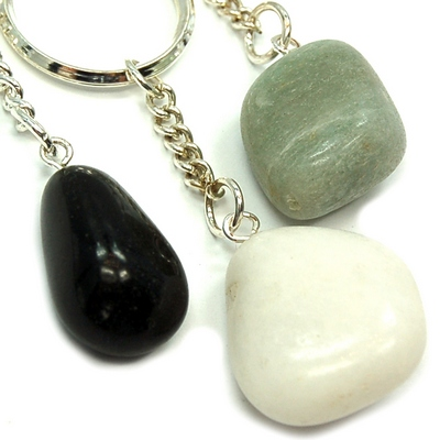 Discontinued - Chakra Tumbled Keychain Assortment - 3pcs.