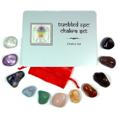 Wholesale - 11pc. Chakra Tumbled Stone Set (10 Sets)