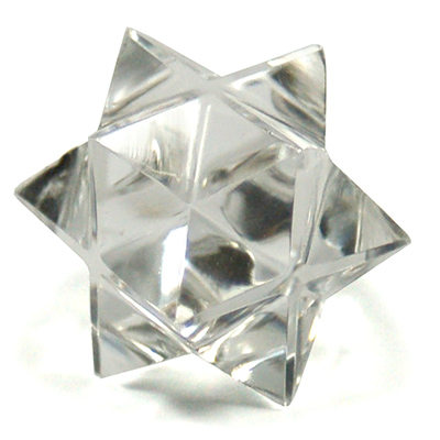 12-Point Merkaba-Octahedron Star in Clear Quartz (India)
