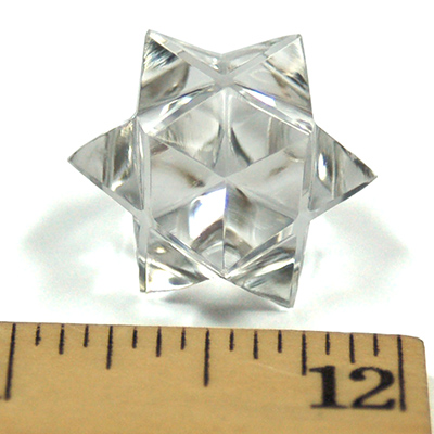 12-point Merkaba-Octahedron Star in Clear Quartz photo 2