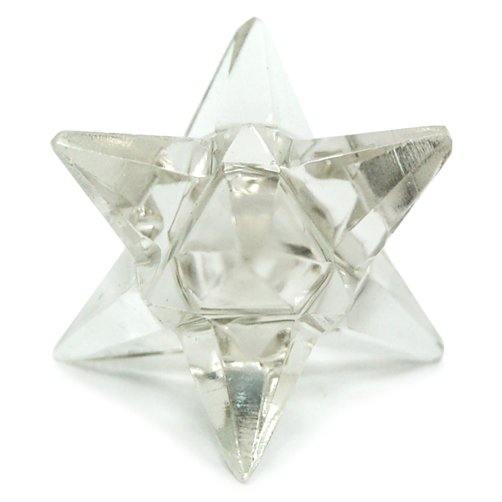 14-point Merkaba-Octahedron Star in Clear Quartz (India)