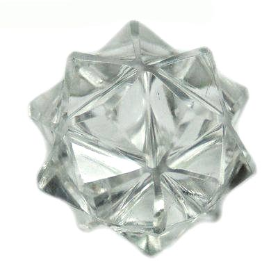 20-Point Merkaba - Icosahedron Star in Clear Quartz (India)