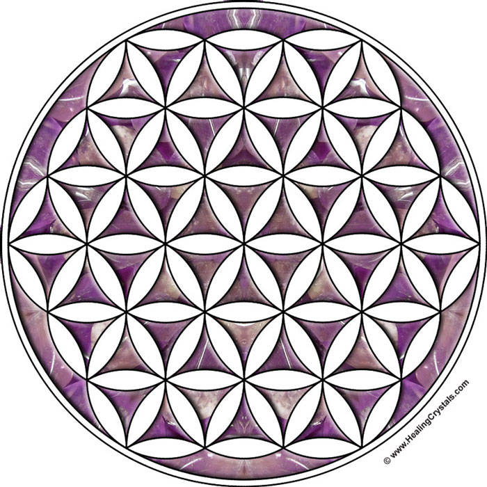 graphic regarding Printable Crystal Grid called Coloured Crystal Grid Templates - Crystal Therapeutic Posts