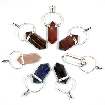 Chakra 6-Sided DT Pencil Pendant Set (India)