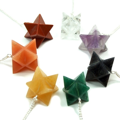 CLEARANCE - 7 Chakra Merkaba Pendulum Set (India)