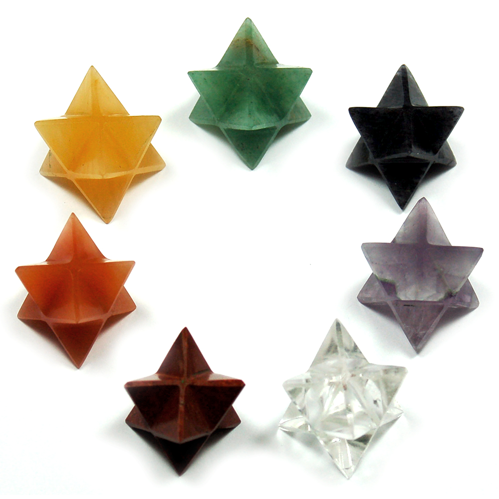 Chakra Set - Merkaba Crystals (7pcs.) photo 2