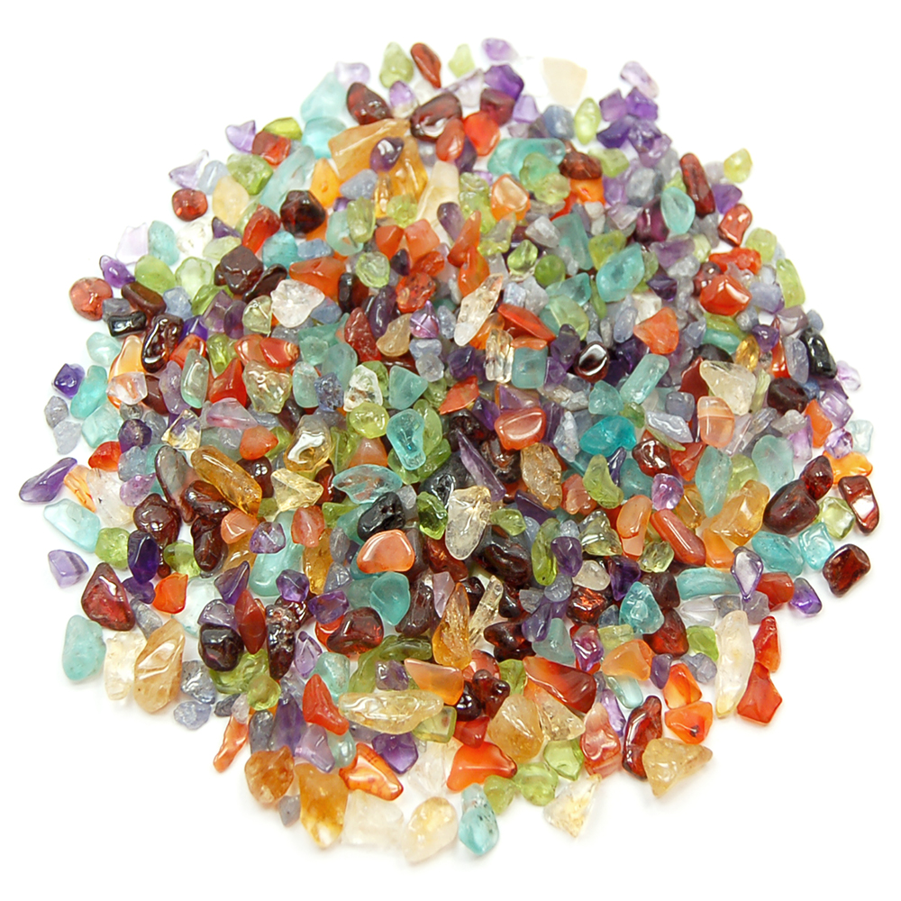 7 Chakra Tumbled Mini Chips (India)- Amethyst - Healing Crystals