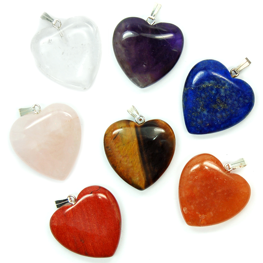 Wholesale - Chakra Heart Pendant Sets (70pcs.)