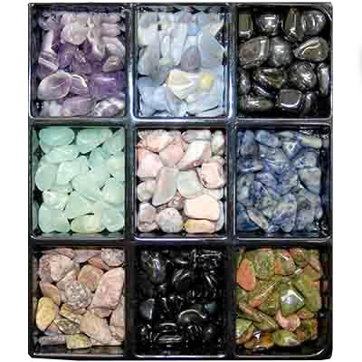 ASST#1 #2 & #3 - 26 different Tumbled Stones - 1lb. & 25pc. Bags