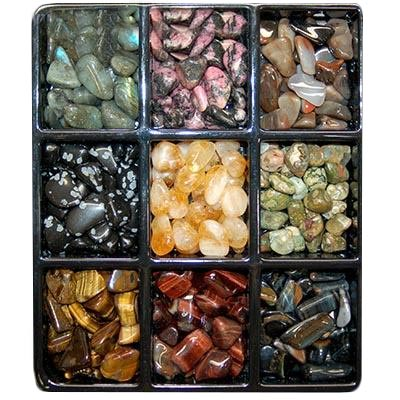 ASST#3 - 9 Different Tumbled Stones - 25pc. Bags