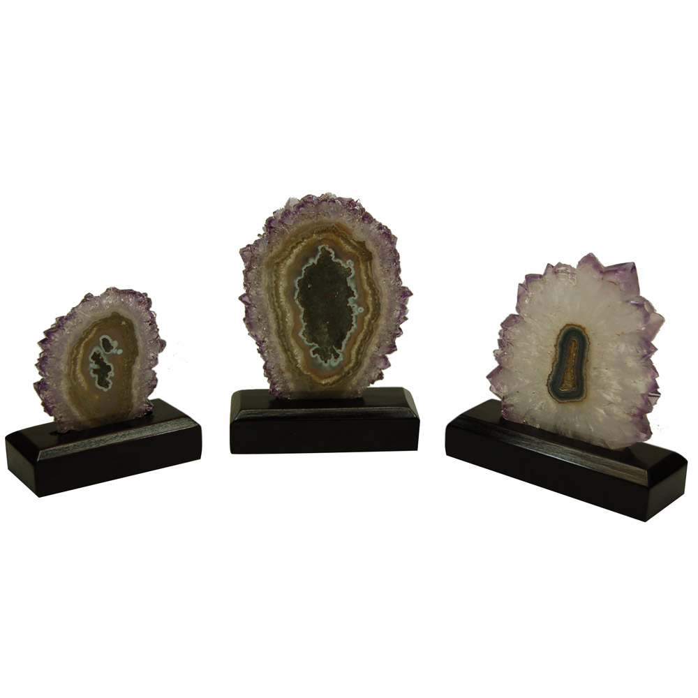 Amethyst Stalactite with Wooden Base