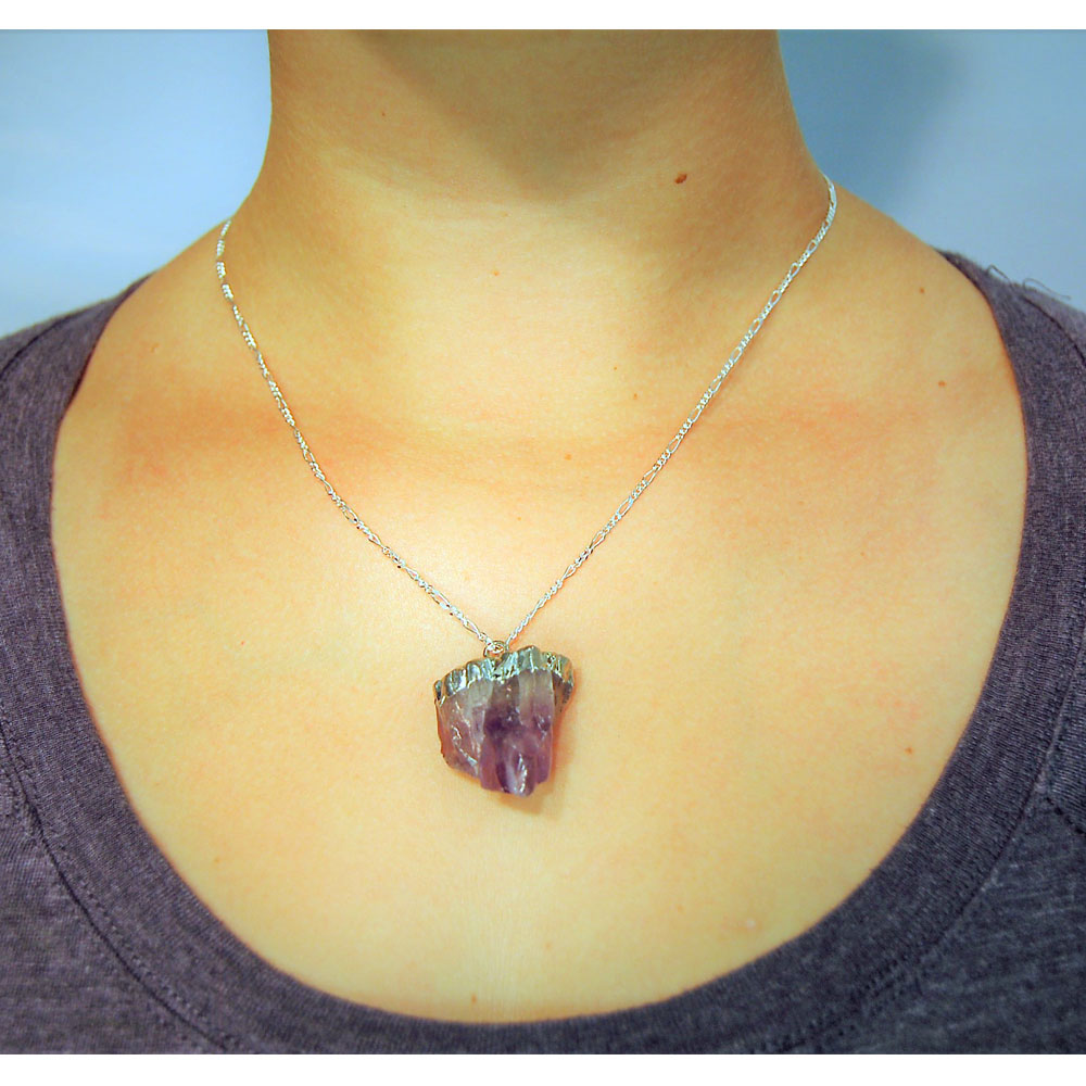 Amethyst Natural Point Pendant