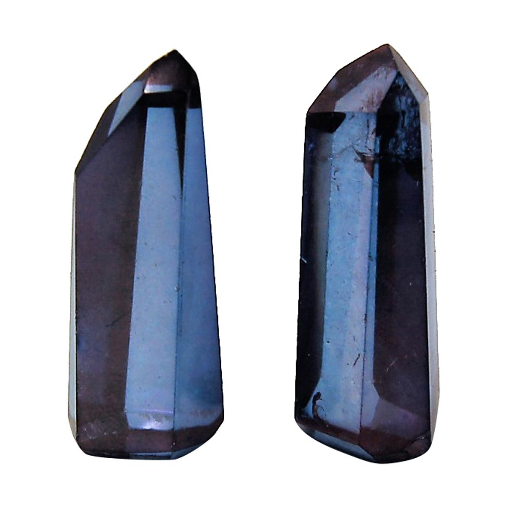 Aura Quartz - Indigo (Tanzan) Aura Mini Towers (India)