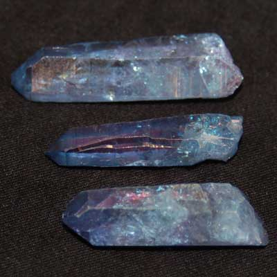 Aura Quartz - Indigo (Tanzan) Aura Points