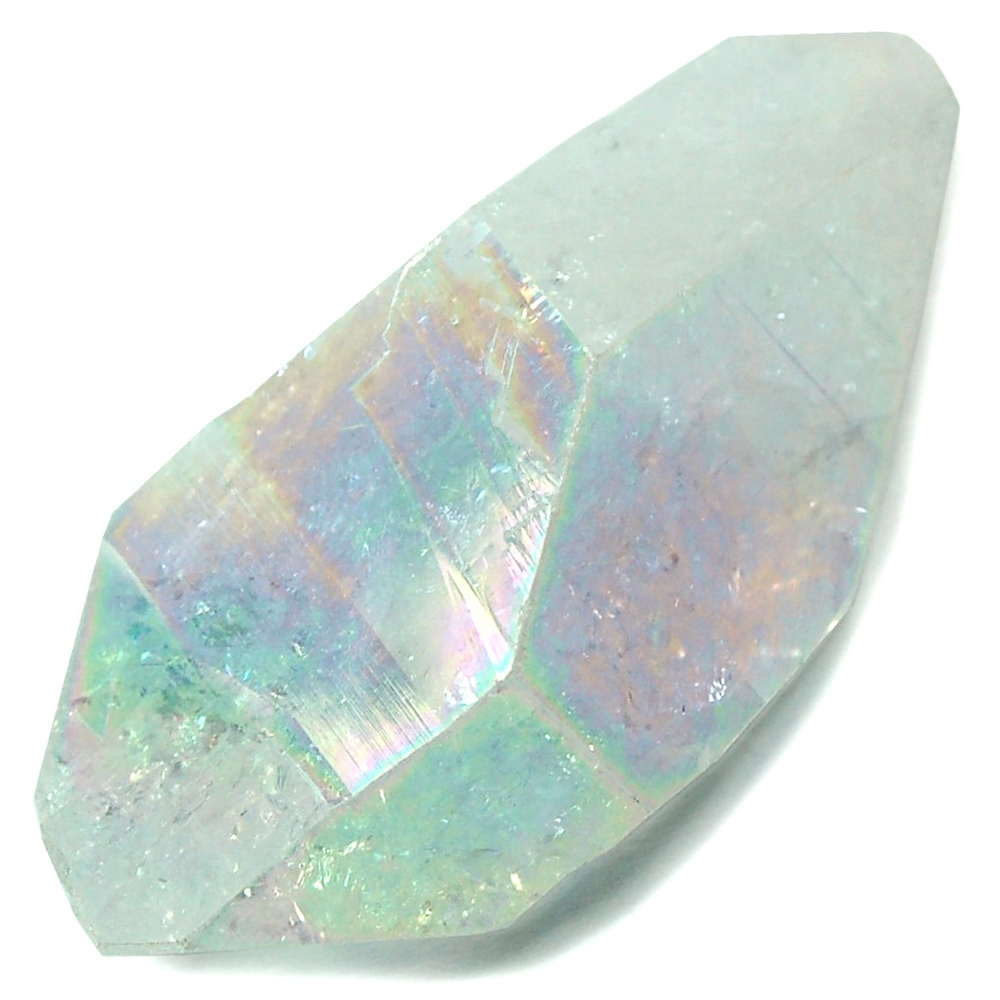 Rainbow Aura Double Terminated Quartz Points photo 5