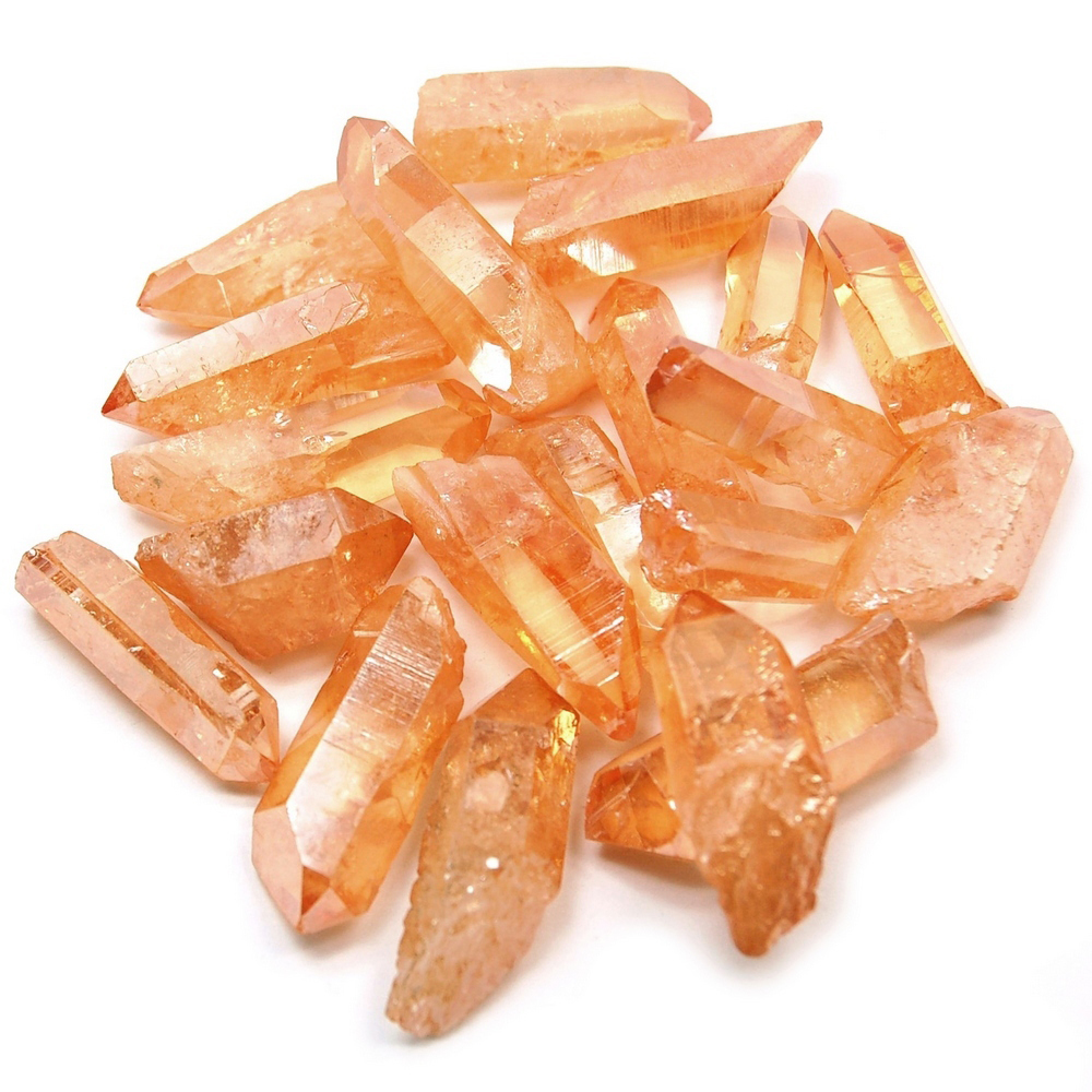 Aura Quartz - Tangerine (Melon) Aura Points (Brazil)