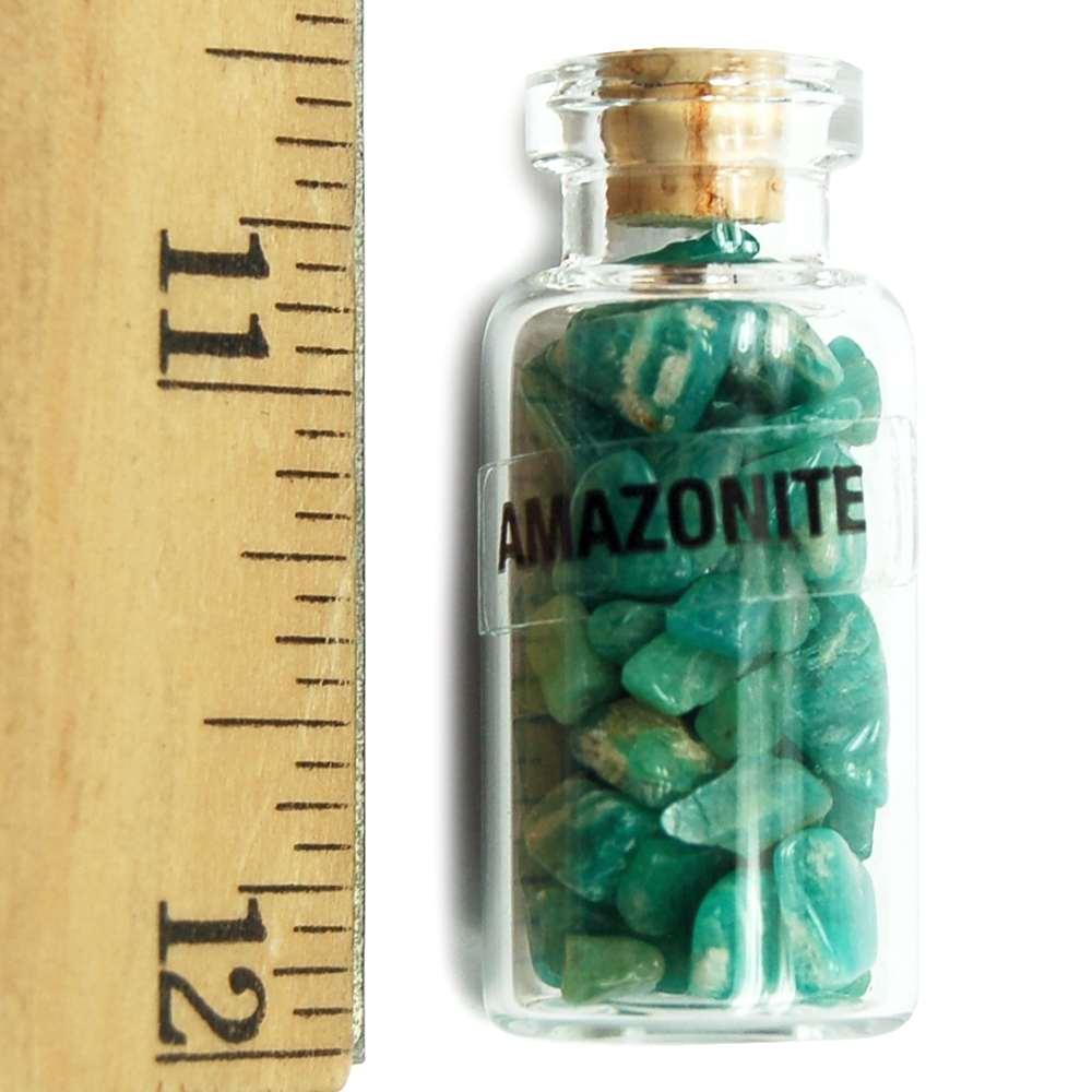 Discontinued - Amazonite Crystals in a Bottle (India)