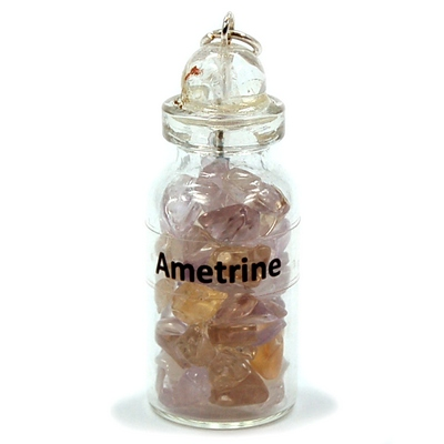 Discontinued - Ametrine Crystals in a Bottle (India)