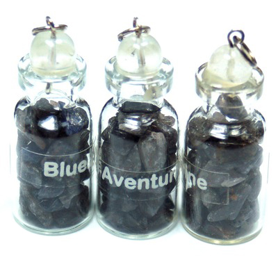 Discontinued - Blue Aventurine Crystals in a Bottle (India)