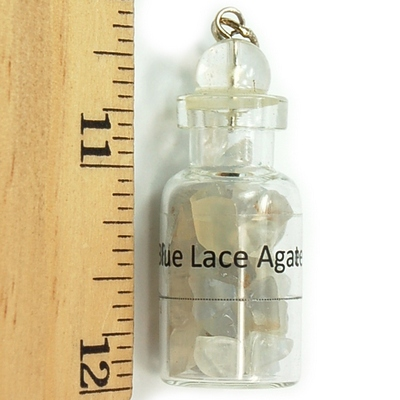 Discontinued - Blue Lace Agate Crystals in a Bottle (India)