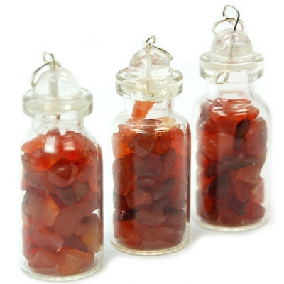 Discontinued - Carnelian Crystals in a Bottle (Brazil)