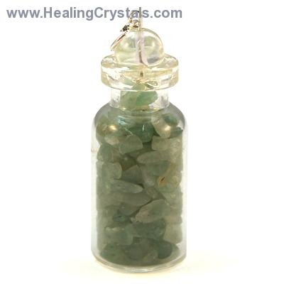 Green Aventurine Crystals in a Bottle (India)