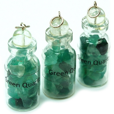 Discontinued - Green Quartz Crystals in a Bottle (India)