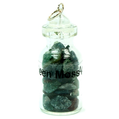 Discontinued - Moss Agate Crystals in a Bottle (India)