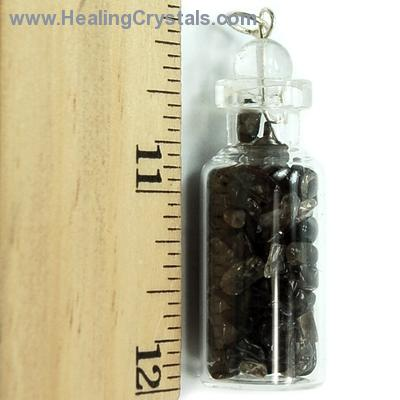 Bottles - Smokey Quartz Crystals in a Bottle (India)