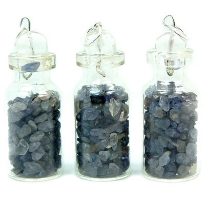 Discontinued - Tanzanite Crystals in a Bottle (Tanzania)