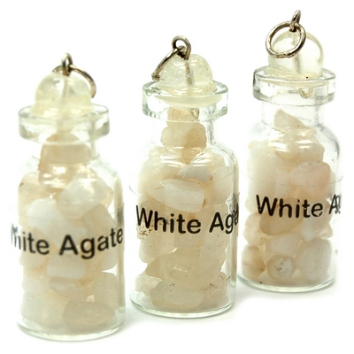 Discontinued - White Agate Crystals in a Bottle (India)