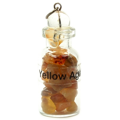 Discontinued - Yellow Agate Crystals in a Bottle (India)