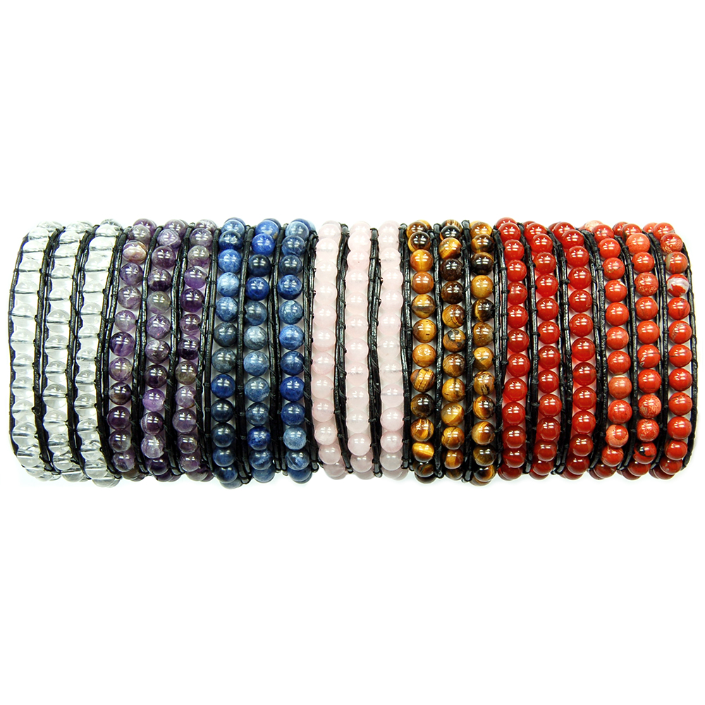 "CLEARANCE - Bracelets - 7pc. Chakra ""Chan Luu"" Style Assortment"
