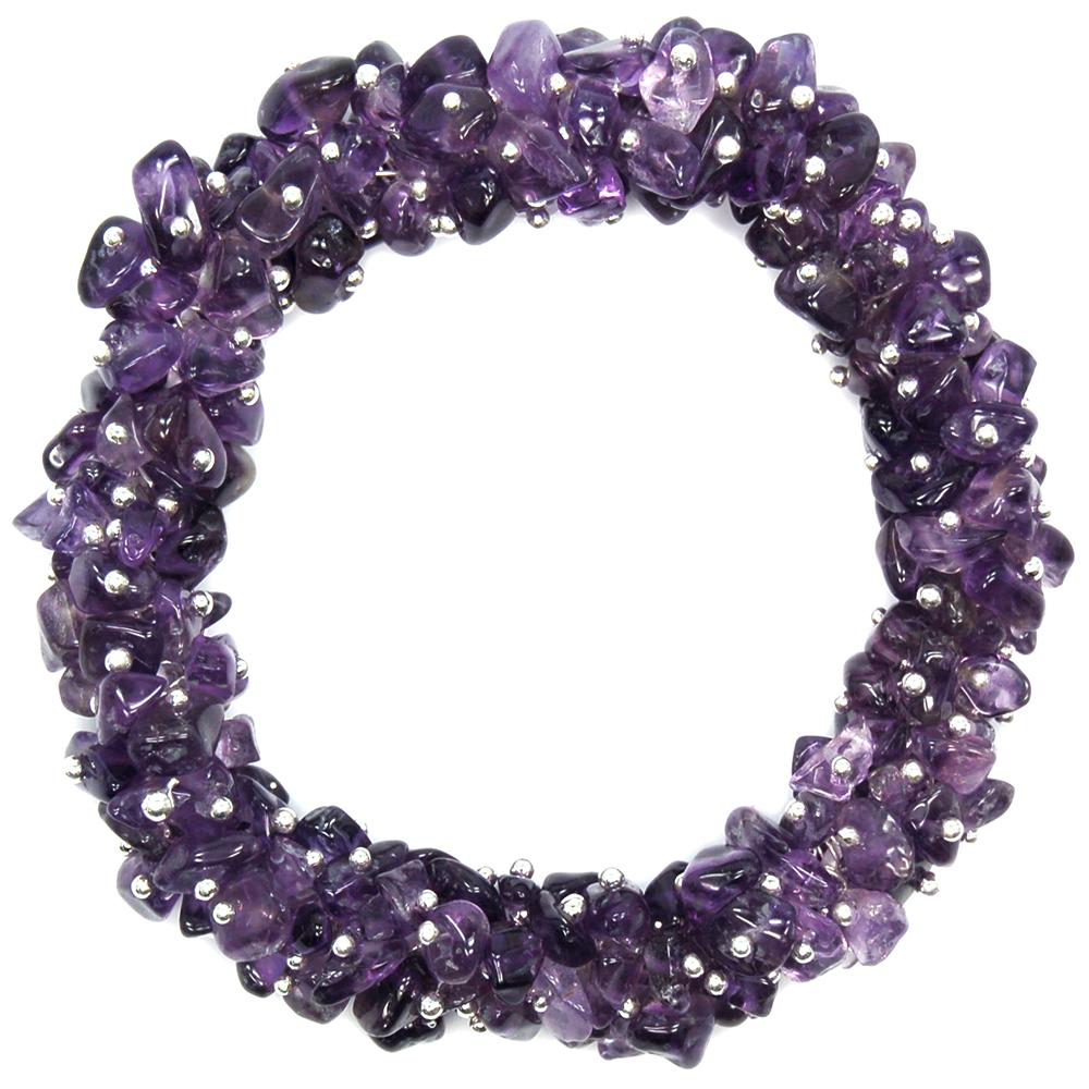 Amethyst Cluster Bracelet