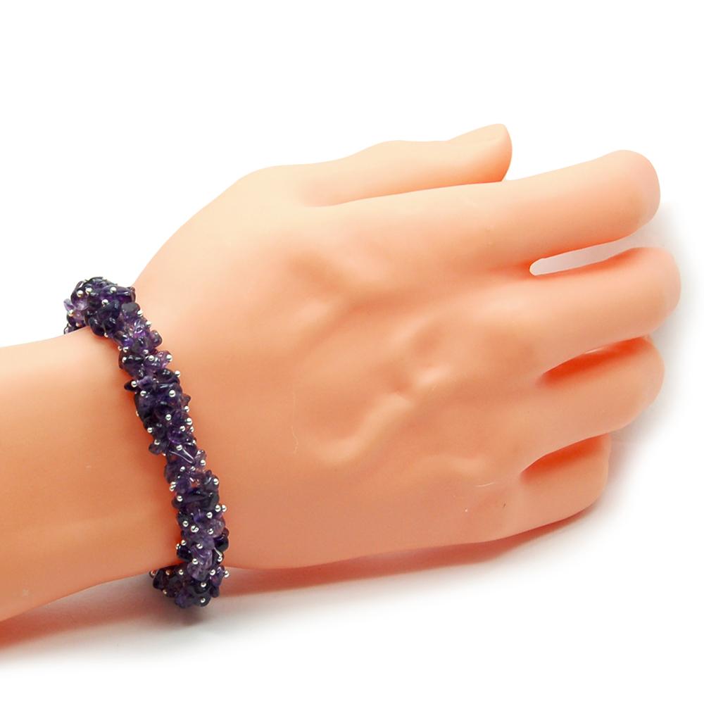 Crystal Cluster Amethyst Bracelet