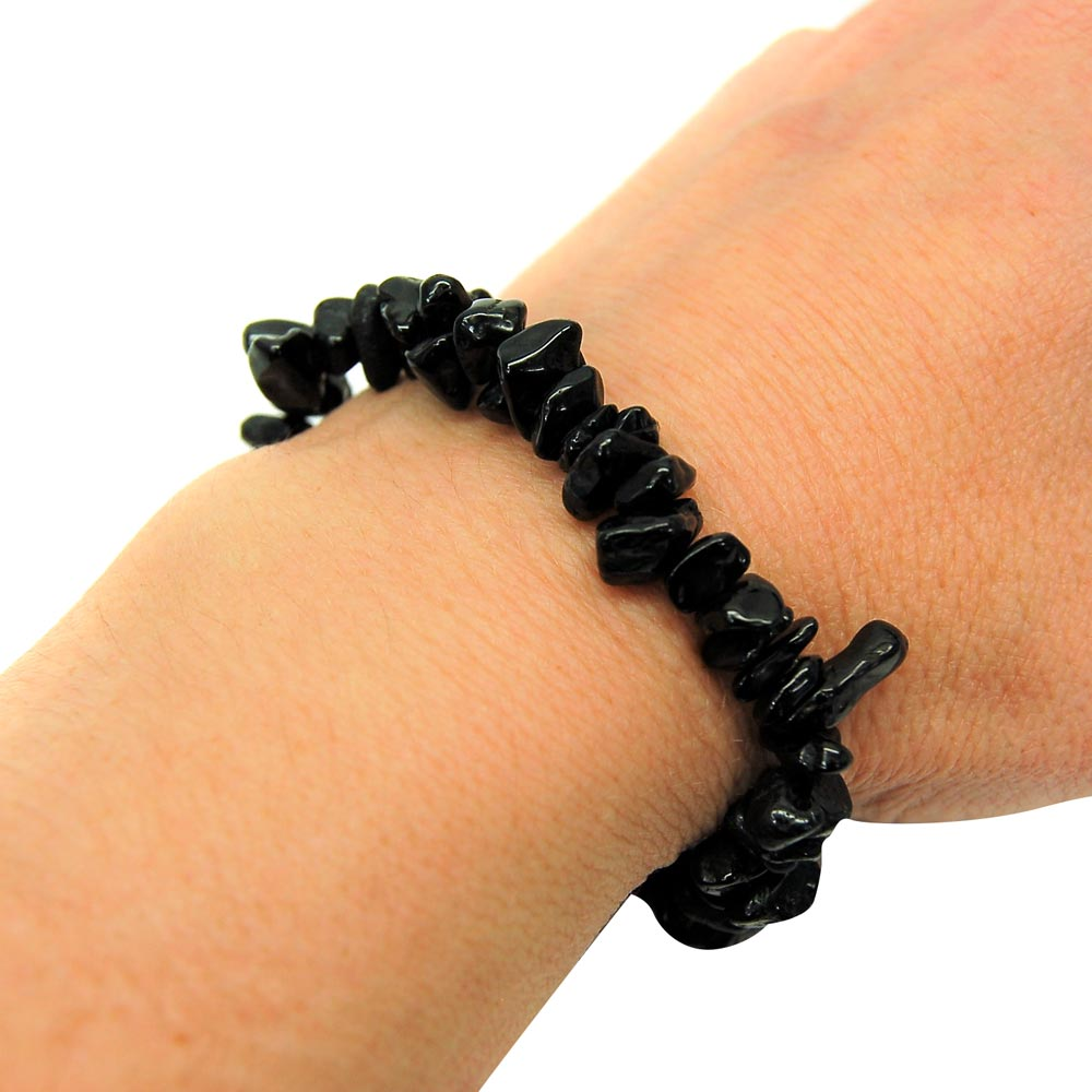 Black Tourmaline Single Strand Bracelet