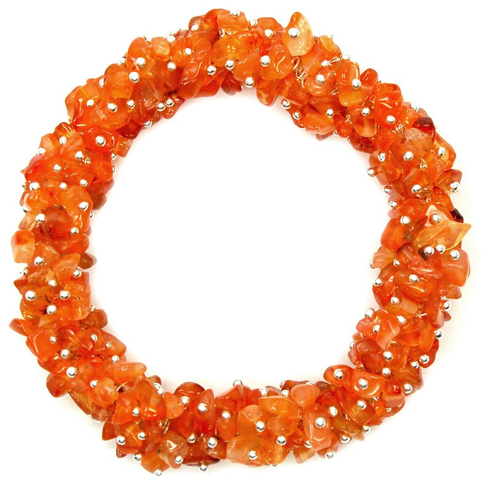 Carnelian Cluster Bracelet