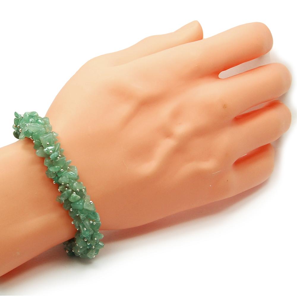 Green Aventurine Cluster Bracelet