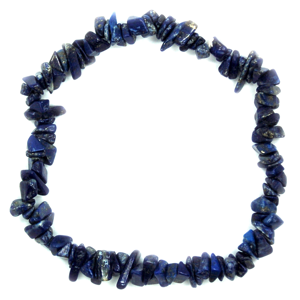 "Bracelets - Lapis Single Strand Bracelet ""Extra"" (India)"