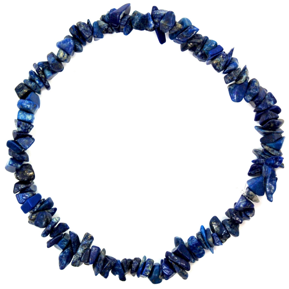 Bracelets - Lapis w/Malachite Single Strand Bracelet (India)