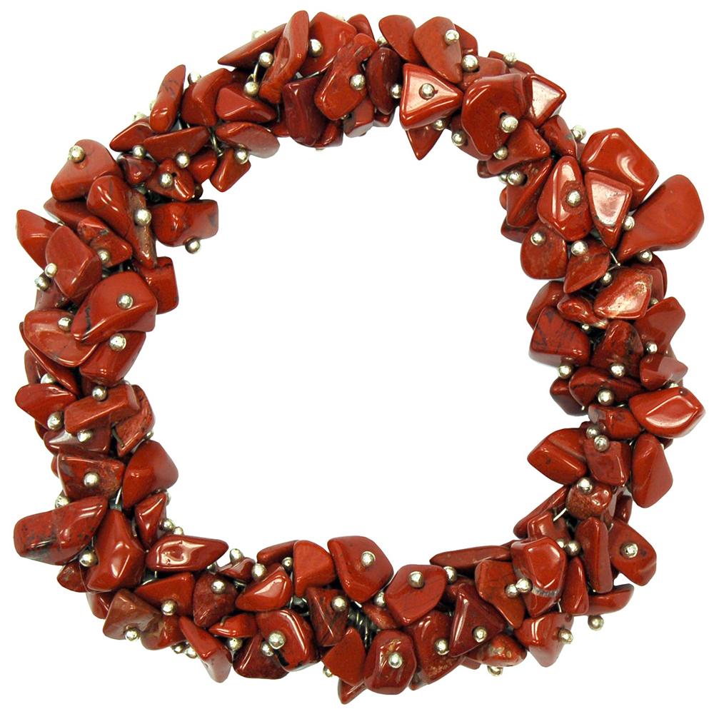 Red Jasper Cluster Bracelet