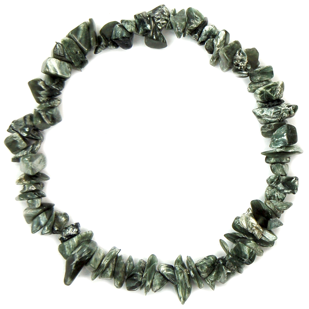 Bracelets - Seraphinite Single Strand Bracelet (India)