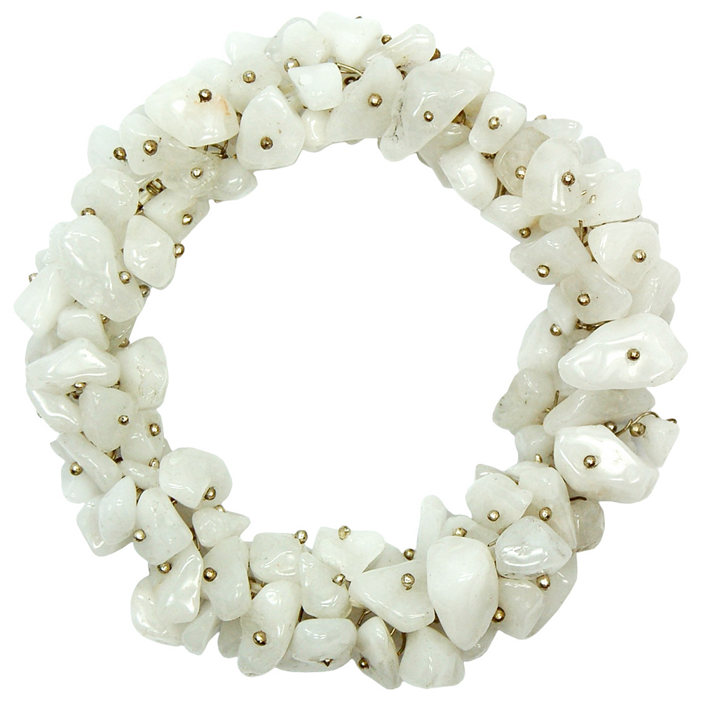 White Aventurine Cluster Bracelet